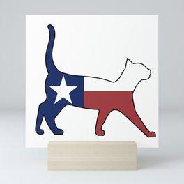 State of Texas Flag for Cat Lovers Mini Art Print