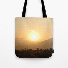 Sun Set Across Nagarjuna Tote Bag