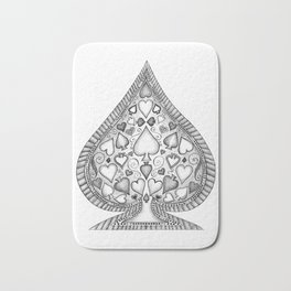 Ace of Spades Black and White Bath Mat