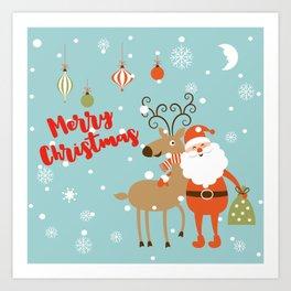 Christmas Santa Art Print
