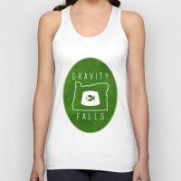 fez Tank Tops featuring Gravity Falls - Grunkle Stan's Fez (Original) by pondlifeforme