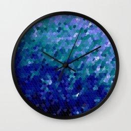 Deep Blue Ocean Mosaic Tile Wall Clock