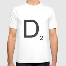 Scrabble D Mens Fitted Tee White MEDIUM