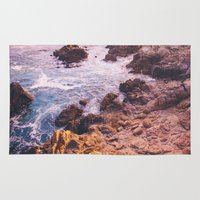 big sur Area & Throw Rugs featuring Big Sur California by Bethany Young Photography