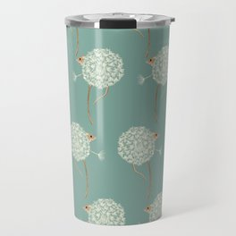 Mouse in a Dandelion Pattern Travel Mug