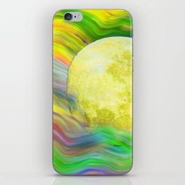 MOON VISIONS AT SEA OIL PAINTING iPhone Skin