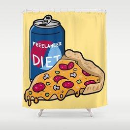 Freelancer diet Shower Curtain