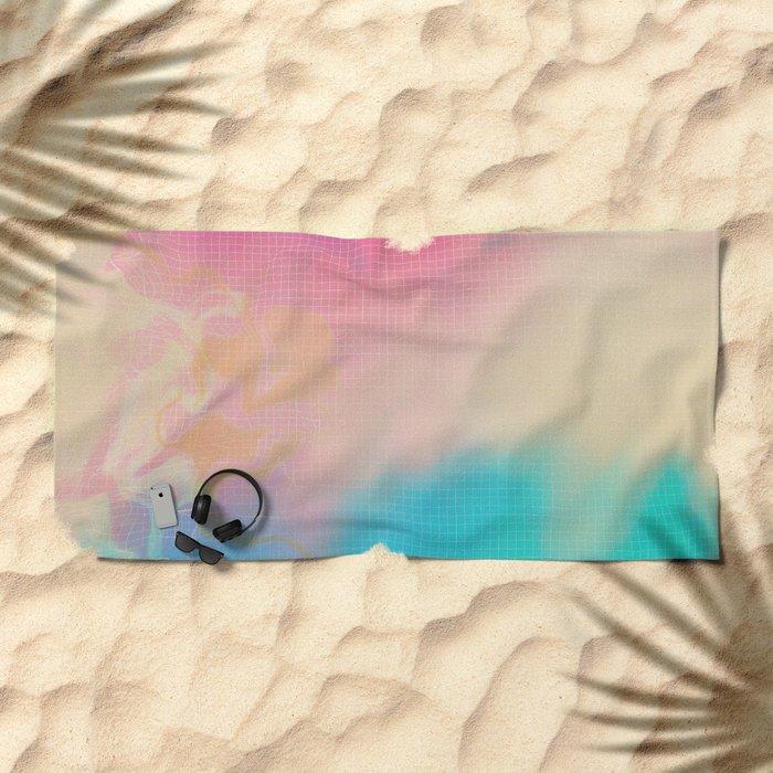 Glitch 06 Beach Towel