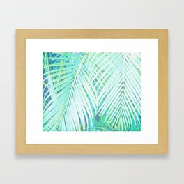 palm fronds Framed Art Print