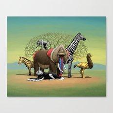 Skin-Swap Safari Canvas Print