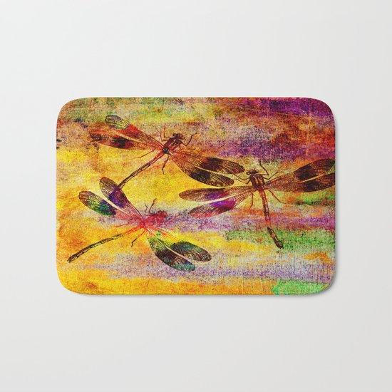 Mauritius Vintage Dragonflies Colours Bath Mat