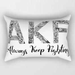 AKF - Always Keep Fighting Rectangular Pillow