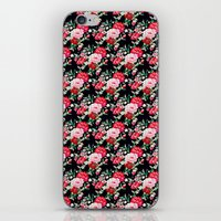 vampire weekend iPhone & iPod Skins featuring Vampire Weekend Floral Pattern by Harold's Visuals