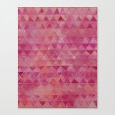 Pink Watercolor Triangles Canvas Print
