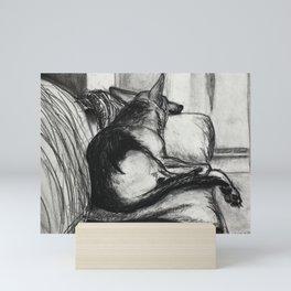 Couch nap Mini Art Print