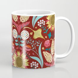 Florid Dreams Red Coffee Mug