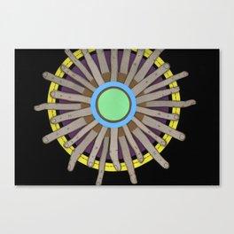 radial blame I Canvas Print