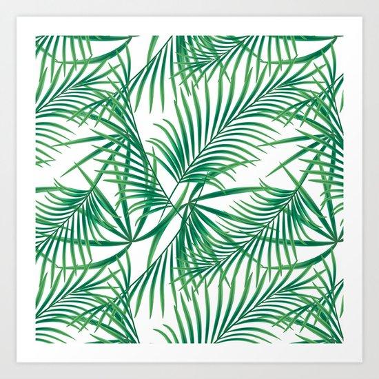 Tropical pattern.2 Art Print