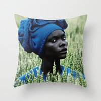 model Throw Pillows featuring Model by Jada Mosely