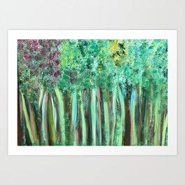 Jennifer's Woods Art Print