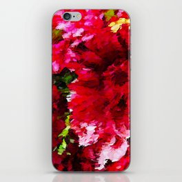 Red Gerbera Daisy Abstract iPhone Skin