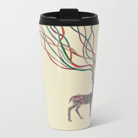 Deer Ribbons Metal Travel Mug