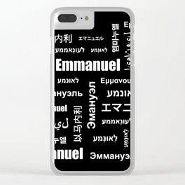 Emmanuel 5 Clear iPhone Case