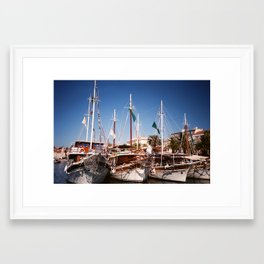 Yachting about Framed Art Print
