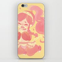 charmaine olivia iPhone & iPod Skins featuring Olivia by tcong