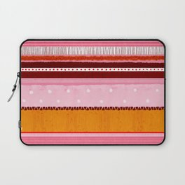 Turmeric and Coral Stripe Laptop Sleeve