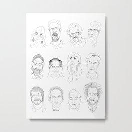 Ancient Aliens - Cast of Caricatures Metal Print