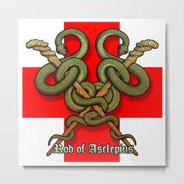 Rod of Asclepius4 Metal Print