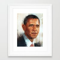 obama Framed Art Prints featuring Obama by NArtist_P3rhaps