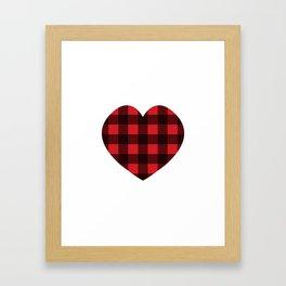 Lumberjack Love Framed Art Print