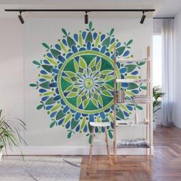 Watercolor Mandala – Green Wall Mural