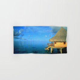 Over-the-Water Island Bungalow Hand & Bath Towel