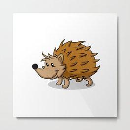 Hedgehog cartoon. Metal Print