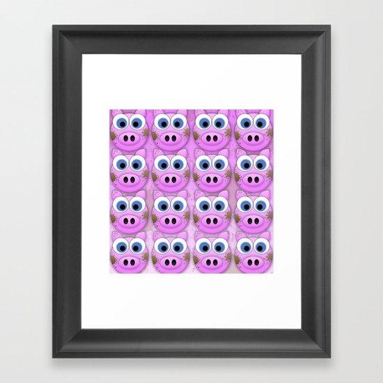 Dirty Little Piggies Framed Art Print