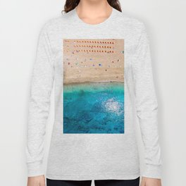 AERIAL. Summer beach Long Sleeve T-shirt
