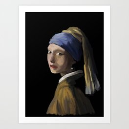 Girl with Pearl Earring - 210 Art Print