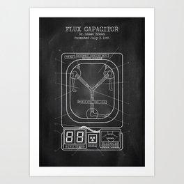 Flux capacitor chalkboard Art Print