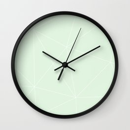 White on Mint Wall Clock