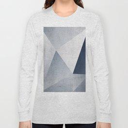 Indigo Minimal Geometry Long Sleeve T-shirt