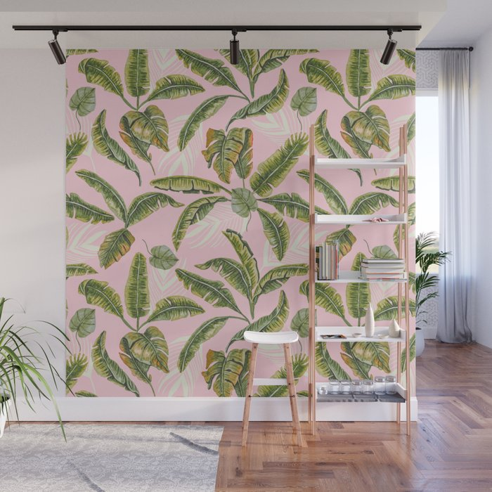 Banana leaf party Wall Mural