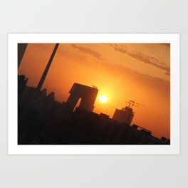 Beijing Sunset Art Print
