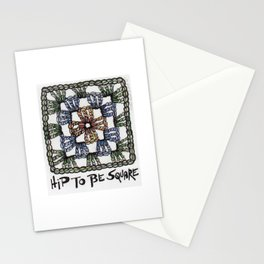 Hip to Be Square Crochet Art Yarn Humor Stationery Cards