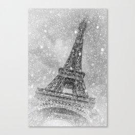 PARIS Eiffel Tower | fairytale-like winter magic Canvas Print