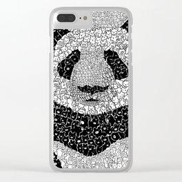 Panda Swarm of Bears Clear iPhone Case