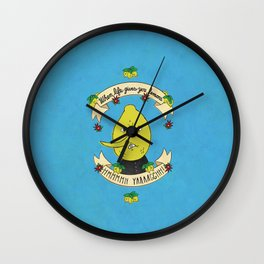 LEMON GRAB LEMONS Wall Clock