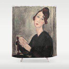 Portrait of Dedie Hayde by Amedeo Modigliani Shower Curtain